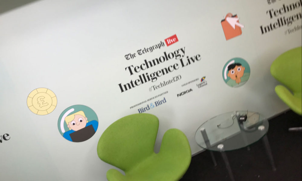 telegraph technology intelligence live removable window vinyls