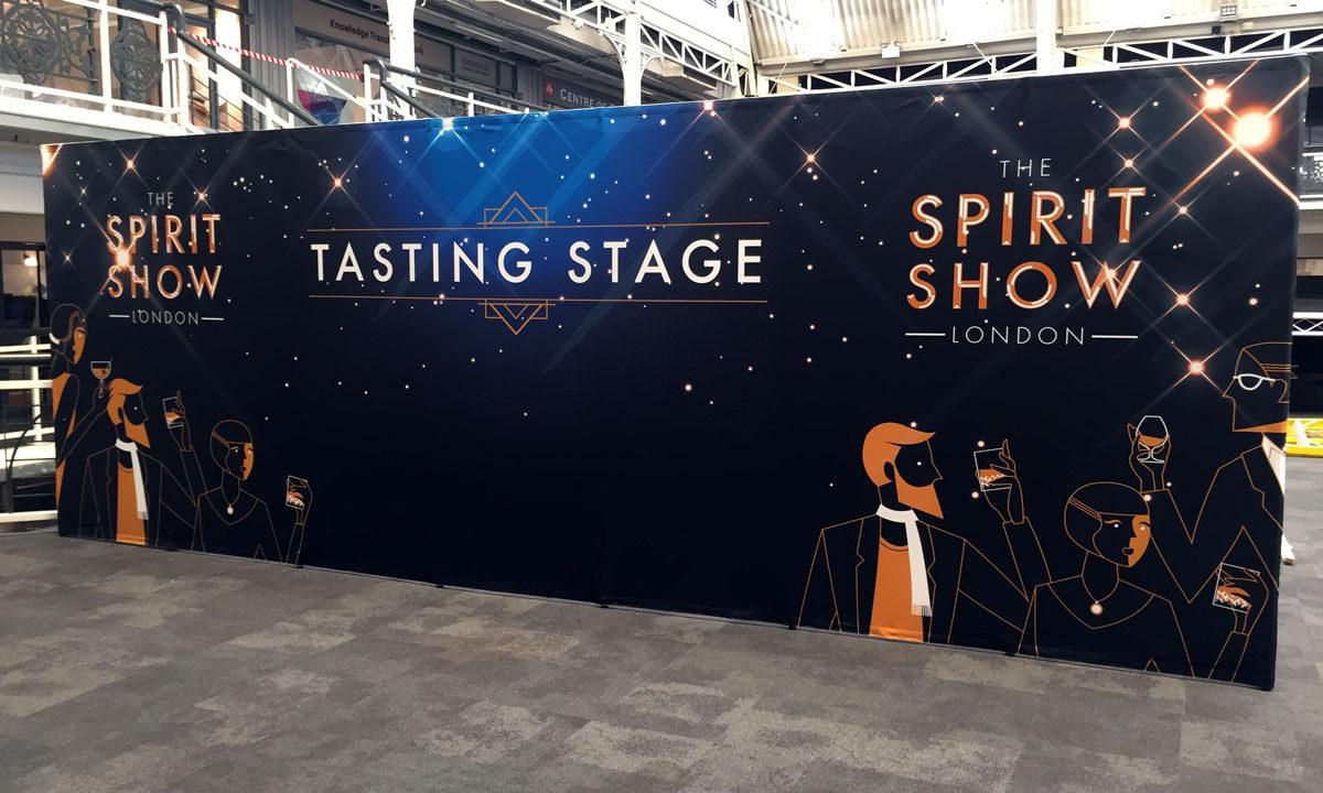 spirit show business design centre london PVC wrap
