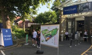 home and gift harrogate exhibition signage outdoor event